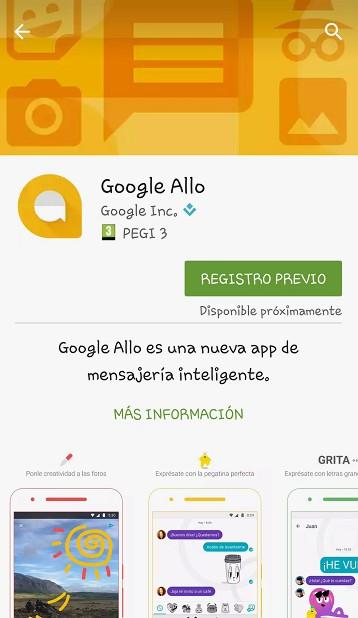registro previo en Google Llo